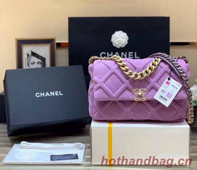 CHANEL 19 Flap Bag AS1160 AS1161 AS1162 Lavender