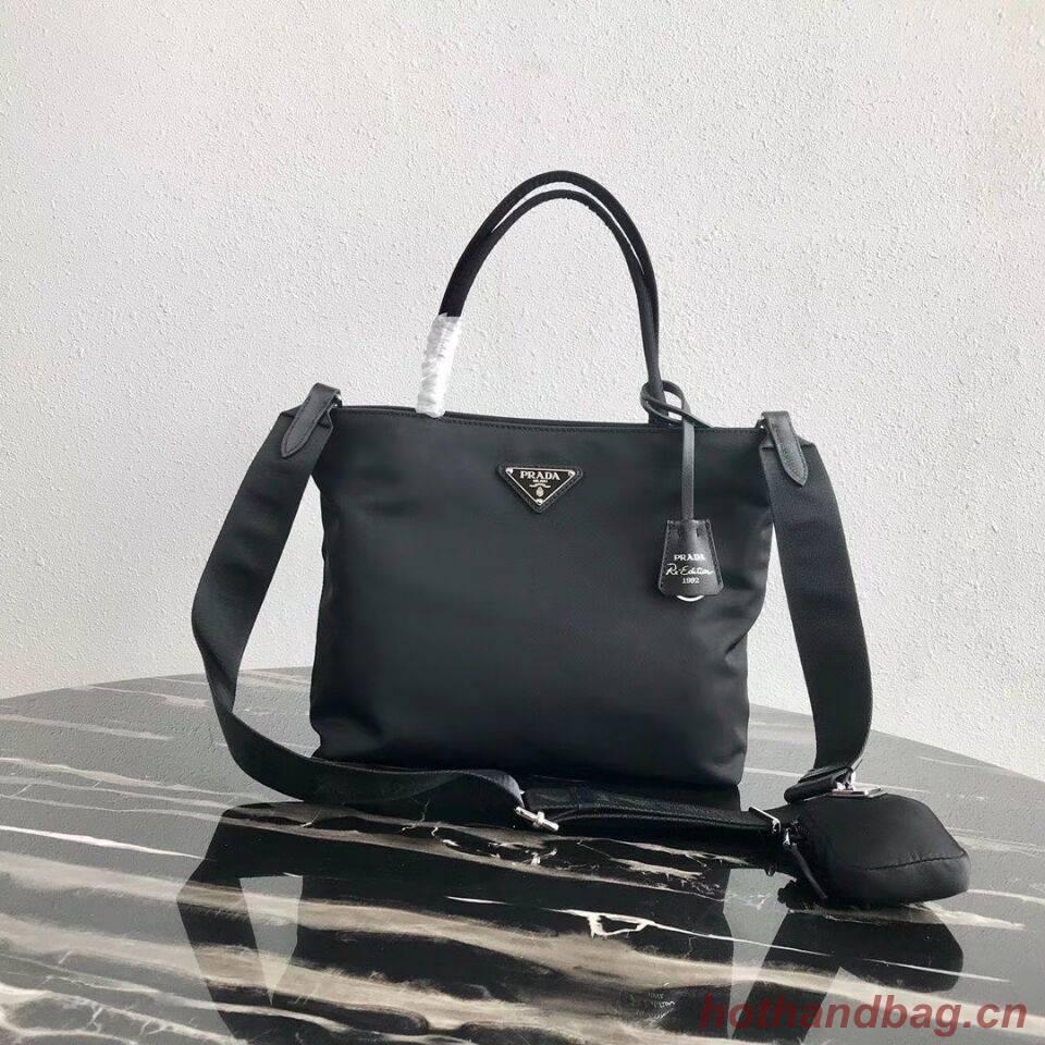 Prada Re-Edition nylon Tote bag 1BG320 Black