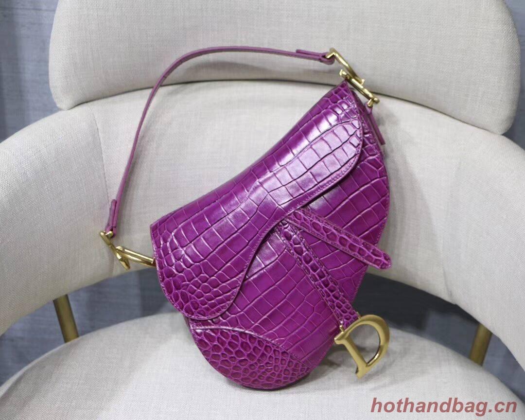 Dior SADDLE SOFT CALFSKIN BAG C9045 purple