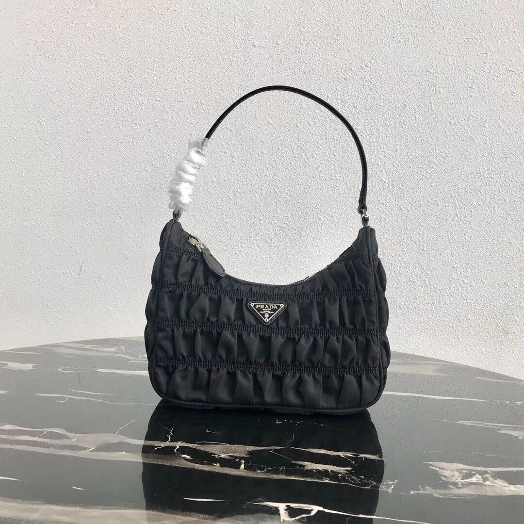 Prada Nylon and Saffiano leather mini bag 1NE204 black
