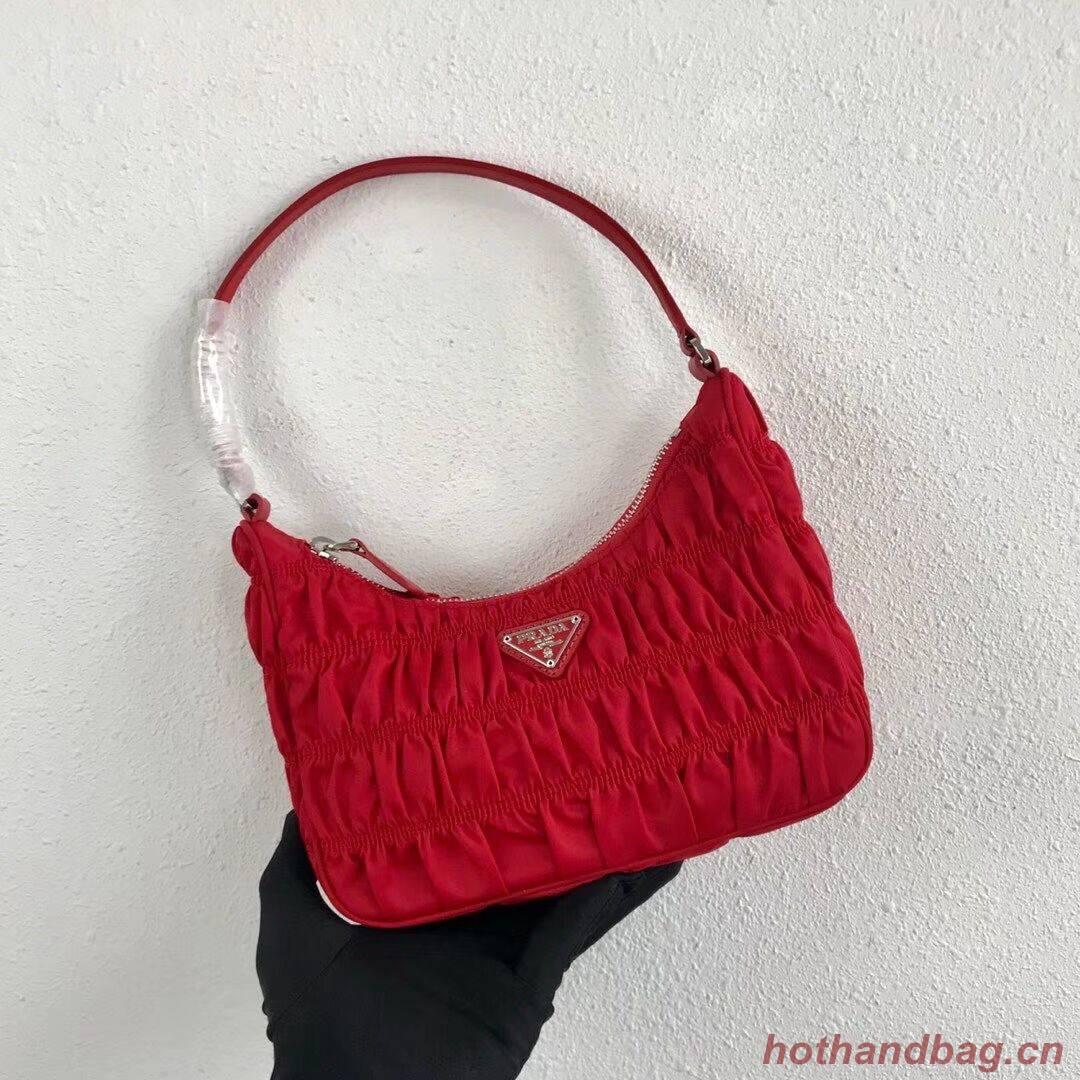 Prada Nylon and Saffiano leather mini bag 1NE204 red