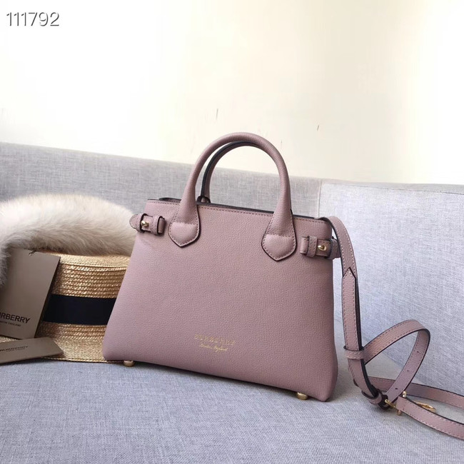 BurBerry Leather Tote Bag 7461 pink