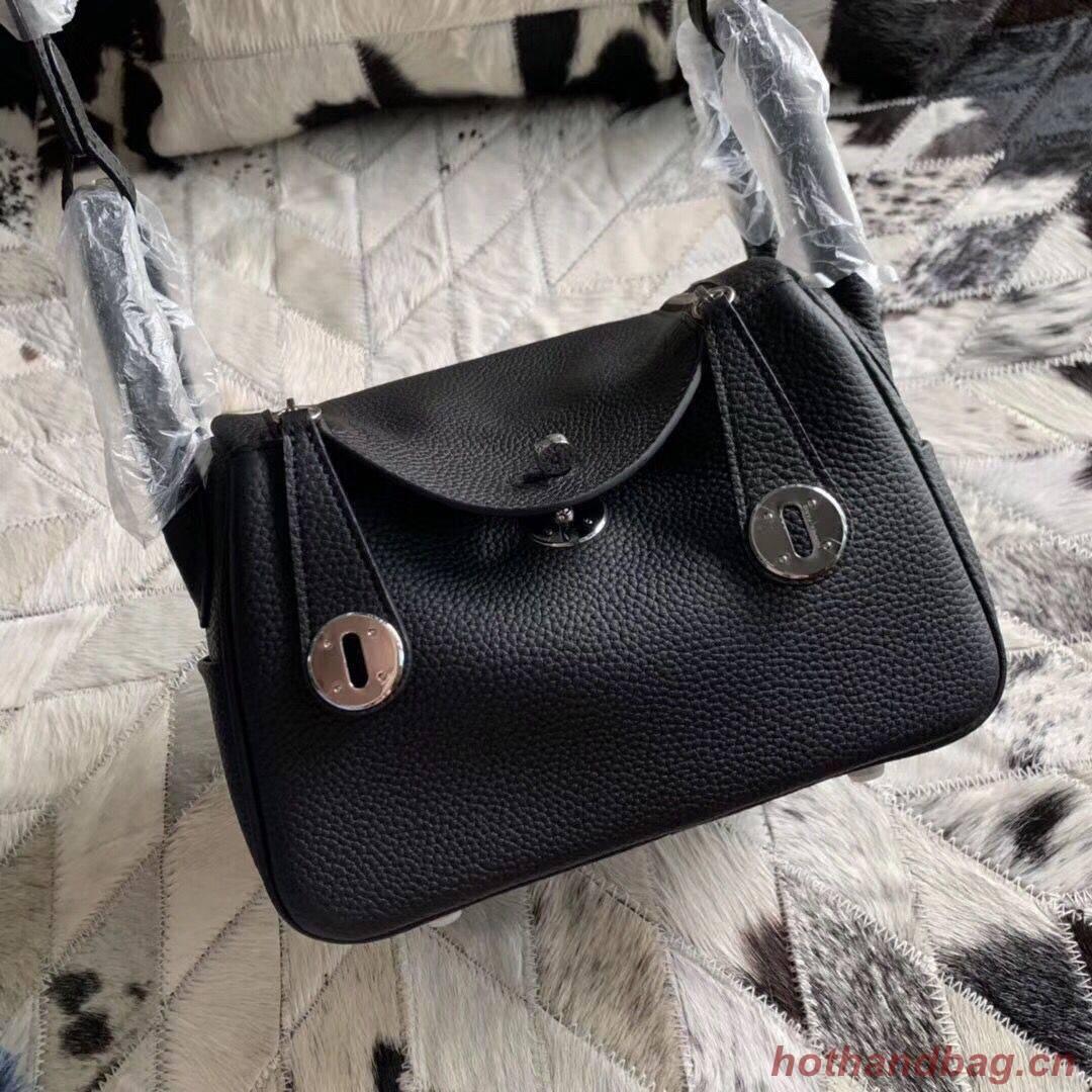 Hermes Mini Lindy Original Togo Leather Bag 5088 Black