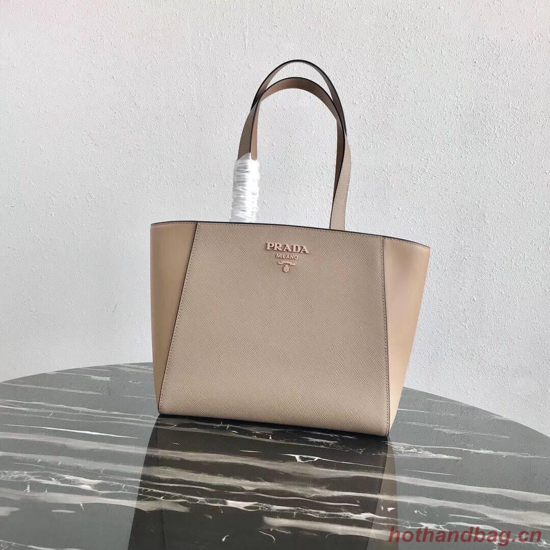 Prada Embleme Saffiano leather bag 1BG288 Apricot