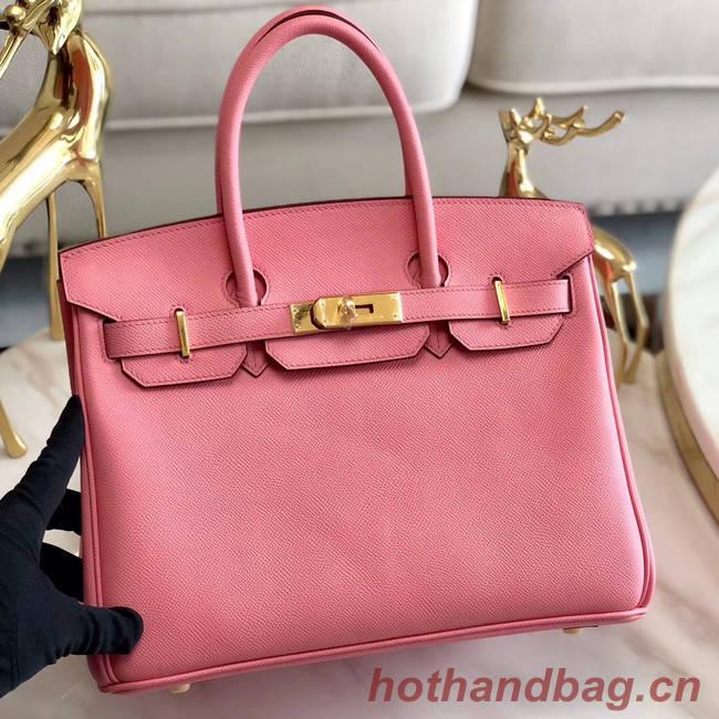 Hermes original Epsom Leather HB35O pink&gold Metal