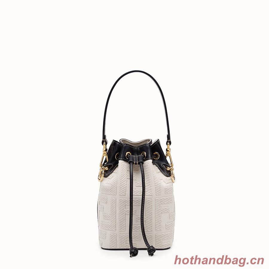FENDI MON TRESOR Mini bag in beige canvas 8BS010