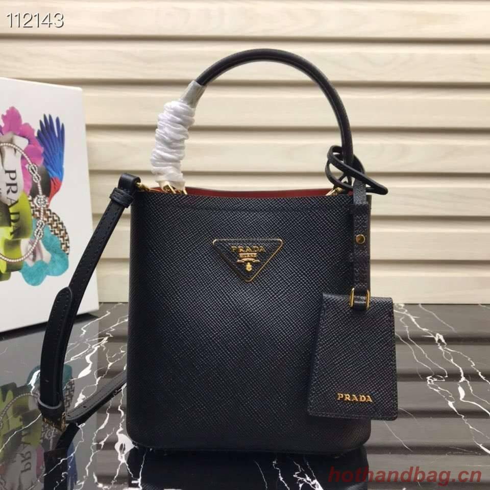 Prada Panier small Original Saffiano Bag 1BA217 Black