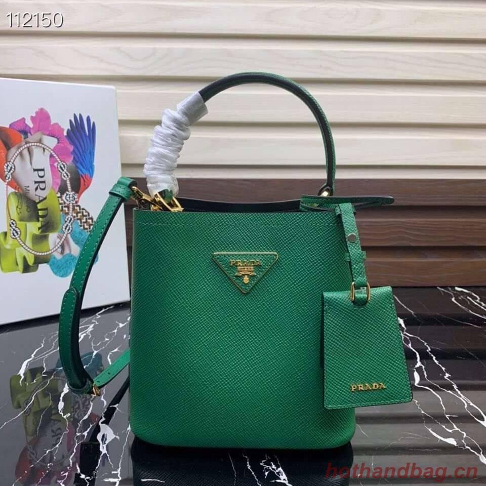 Prada Panier small Original Saffiano Bag 1BA217 Green