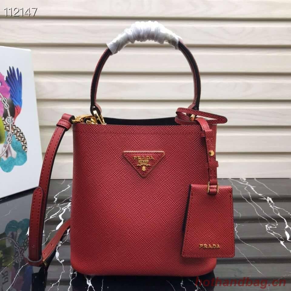 Prada Panier small Original Saffiano Bag 1BA217 Red