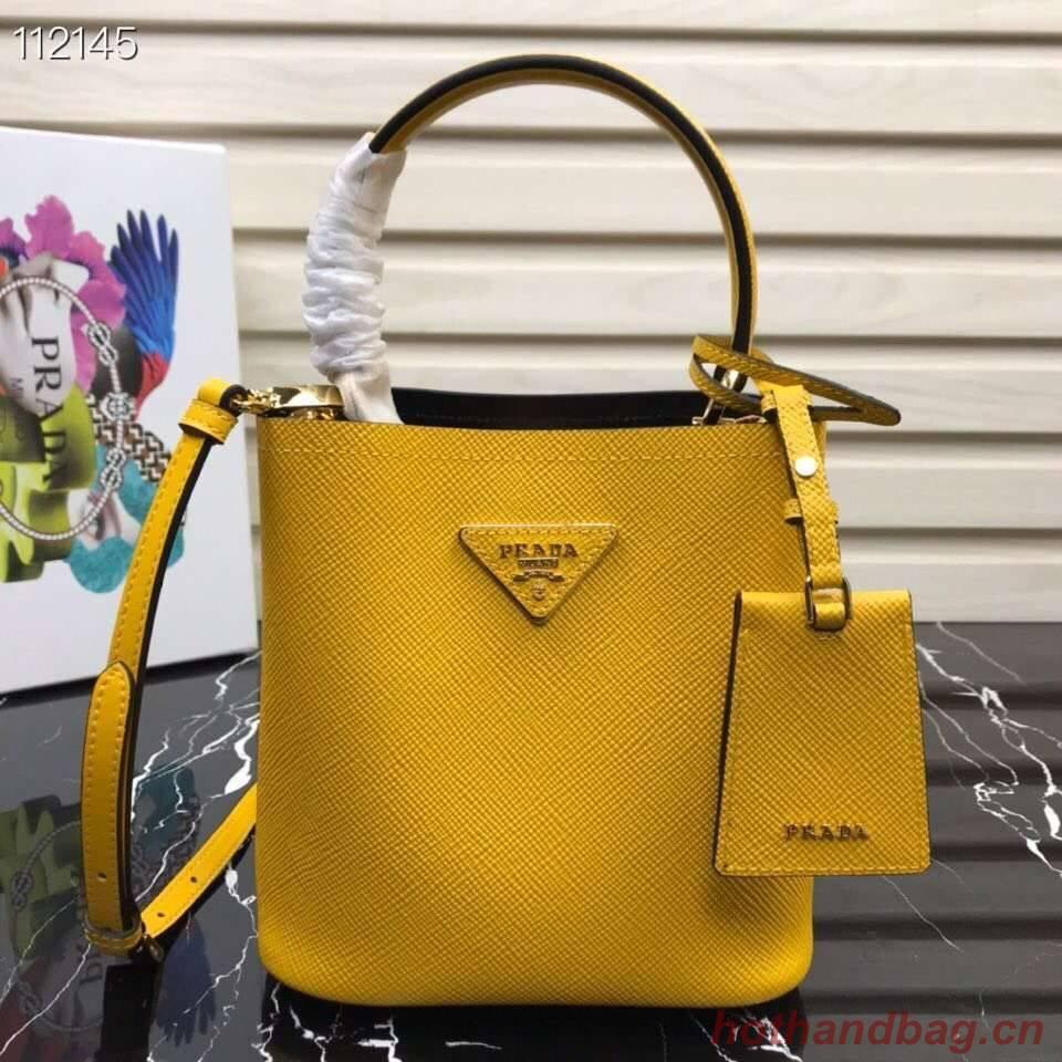 Prada Panier small Original Saffiano Bag 1BA217 Yellow