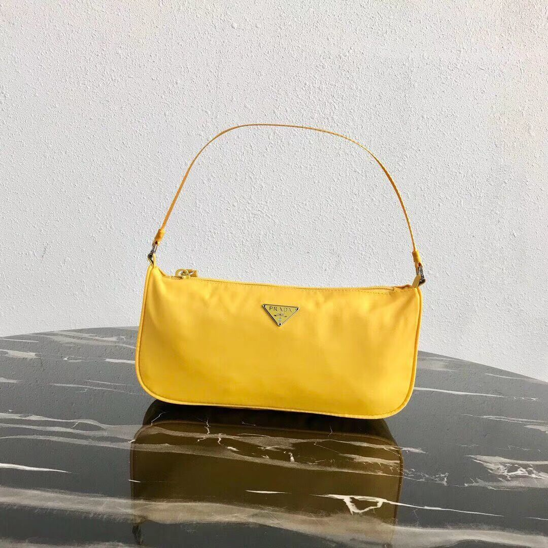Prada Re-Edition nylon Tote bag 1N1419 yellow