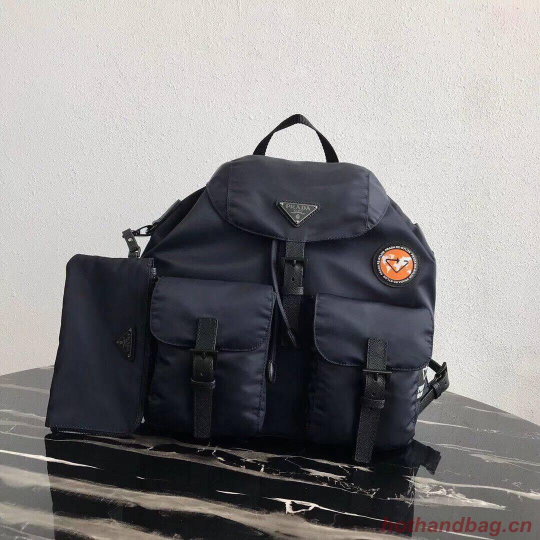 Prada Re-Nylon backpack 1BZ811 black&orange