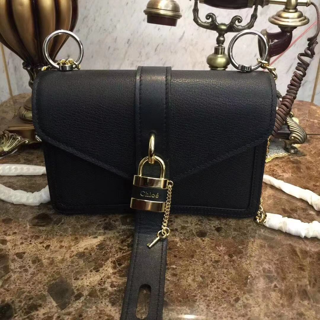 Chloe Original Calfskin Leather Bag 3S068 Black