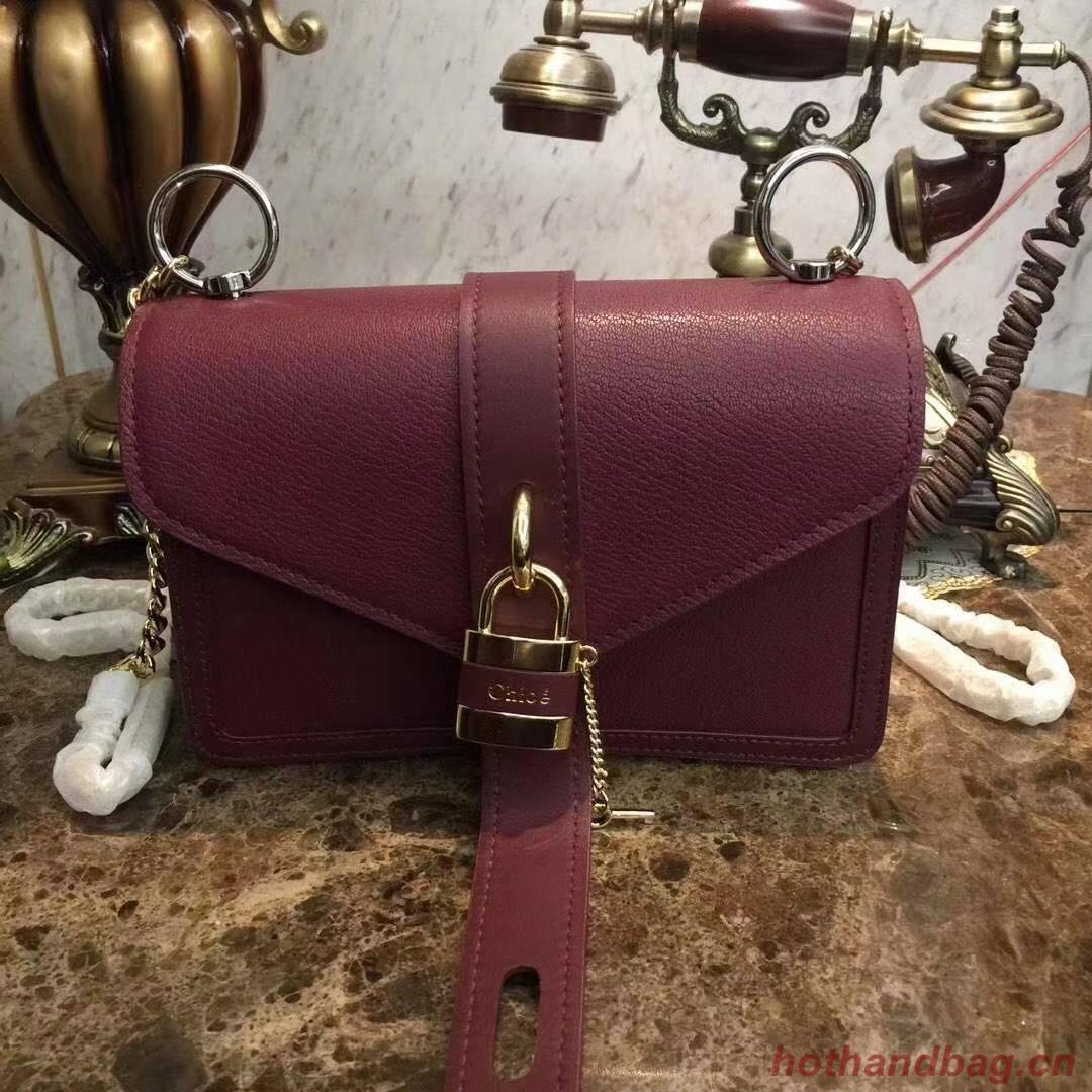 Chloe Original Calfskin Leather Bag 3S068 Burgundy