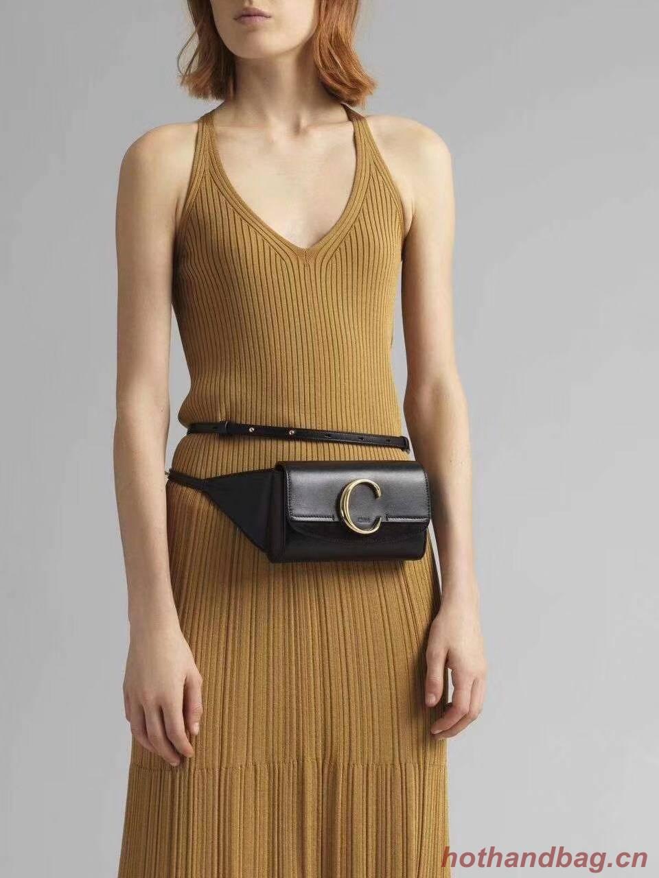 Chloe Original Leather Belt Bag 3S036 black