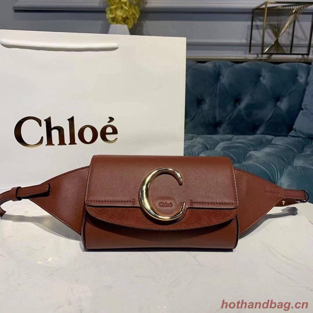 Chloe Original Leather Belt Bag 3S036 brown