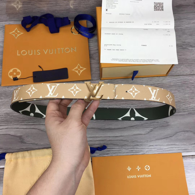 Louis Vuitton Leather Belt M0204W 30MM