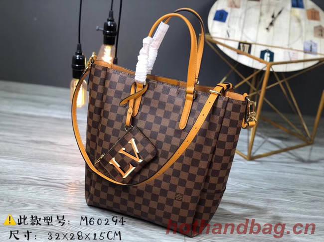 Louis Vuitton Damier Ebene Canvas Original Leather M62094 brown