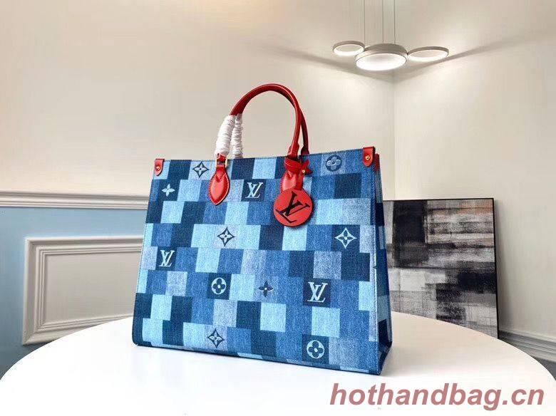 Louis Vuitton Monogram Damier Onthego Bag M44992 Blue