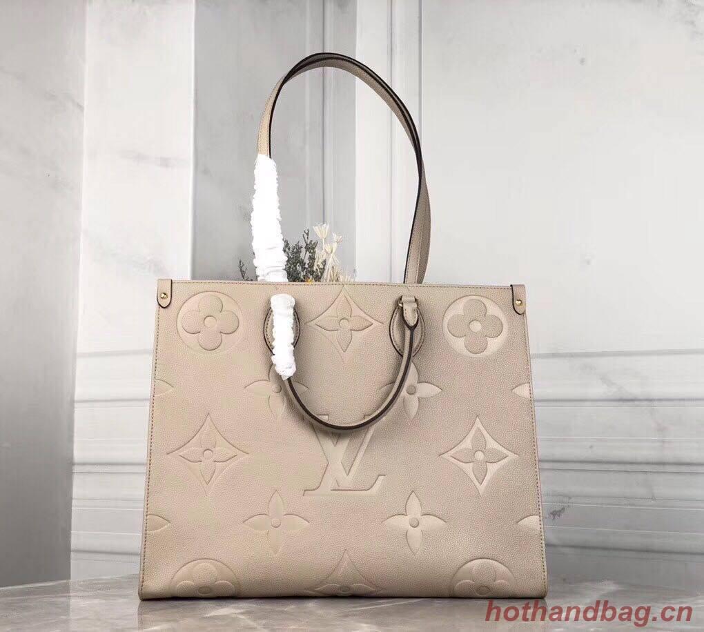 Louis Vuitton ONTHEGO Original Leather Bag M44576 Beige