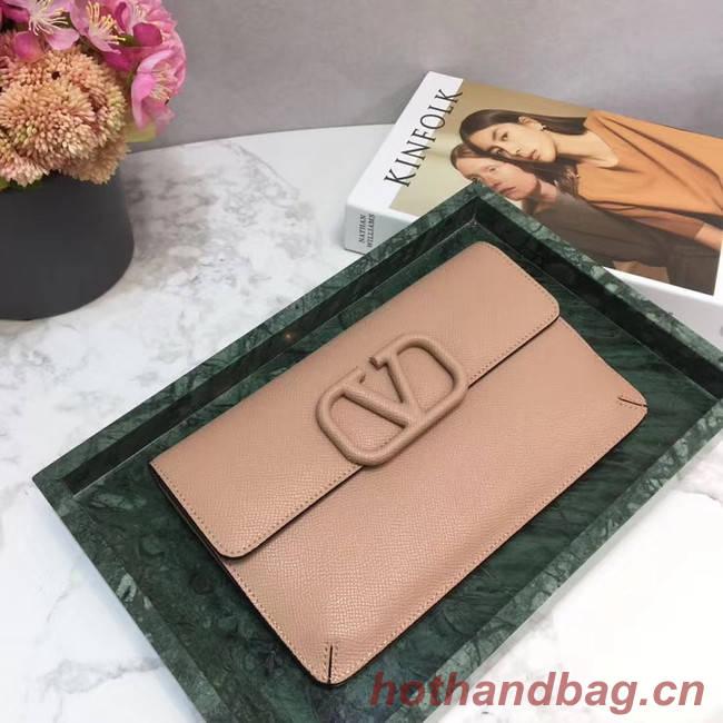 VALENTINO Origianl leather 065 Clutch bag pink