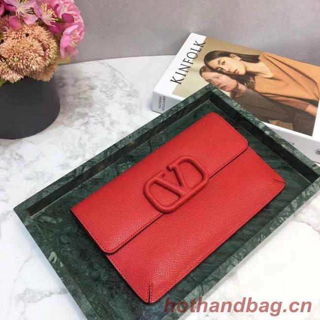 VALENTINO Origianl leather 065 Clutch bag red