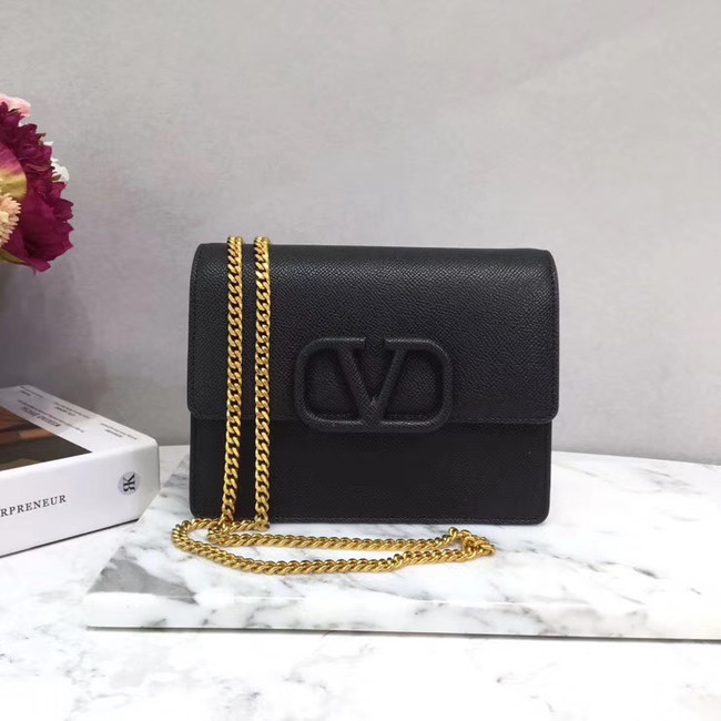 VALENTINO Origianl leather 069 Chain bag black