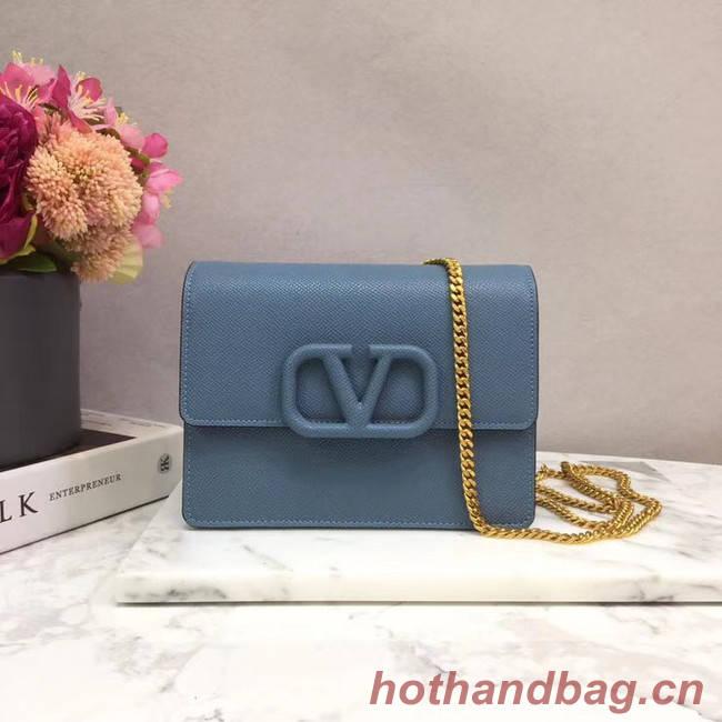 VALENTINO Origianl leather 069 Chain bag blue