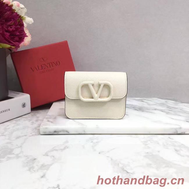 VALENTINO Origianl leather Card Holder 062 white