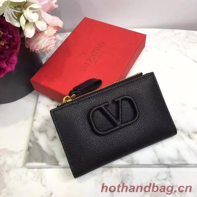 VALENTINO Origianl leather Card Holder 066 black