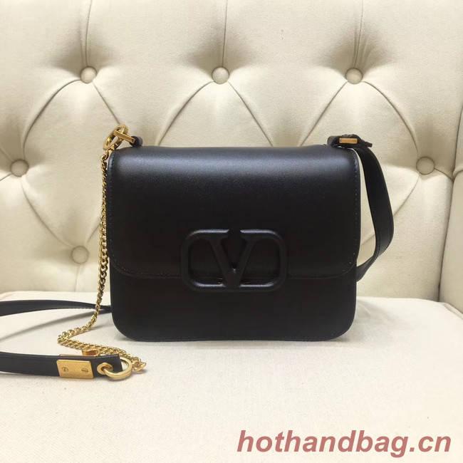 VALENTINO VLOCK Origianl leather shoulder bag 0906 black