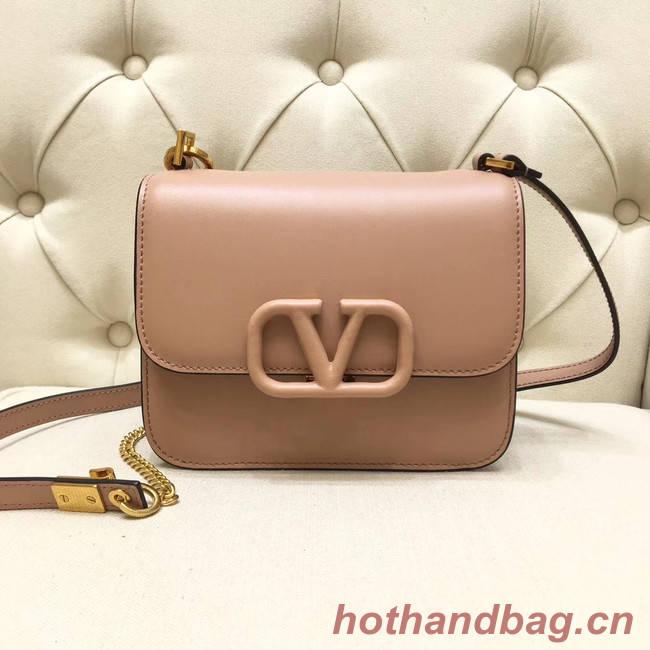 VALENTINO VLOCK Origianl leather shoulder bag 0906 light pink