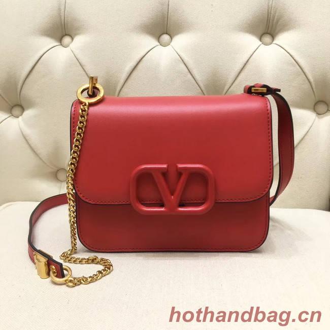 VALENTINO VLOCK Origianl leather shoulder bag 0906 red