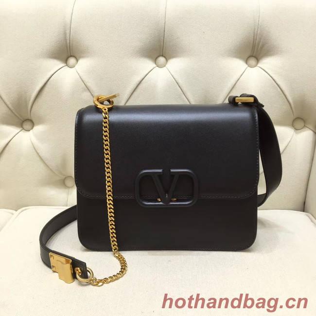 VALENTINO VLOCK Origianl leather shoulder bag 0908 black