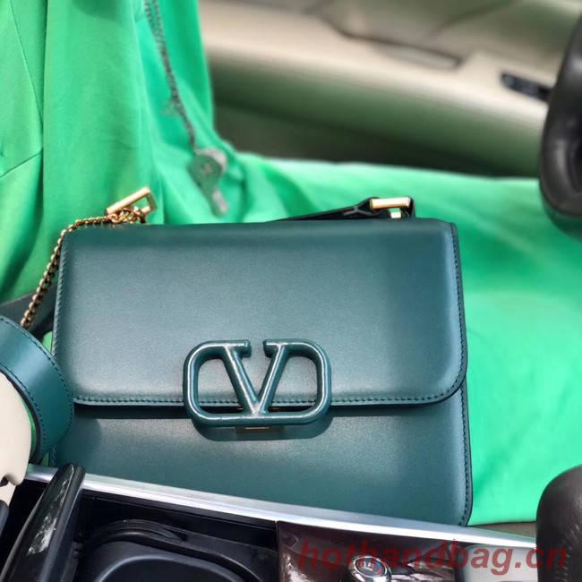 VALENTINO VLOCK Origianl leather shoulder bag 0908 green