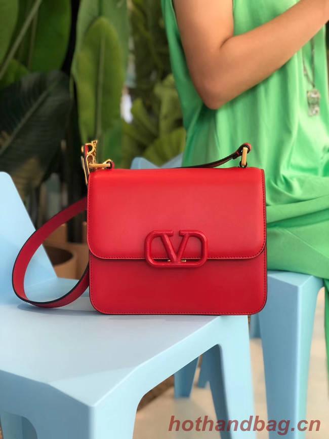 VALENTINO VLOCK Origianl leather shoulder bag 0908 red