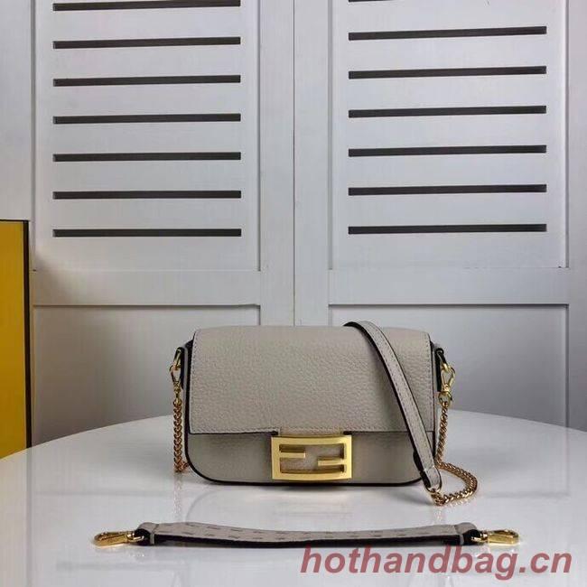 Fendi BAGUETTE leather bag F2467 beige