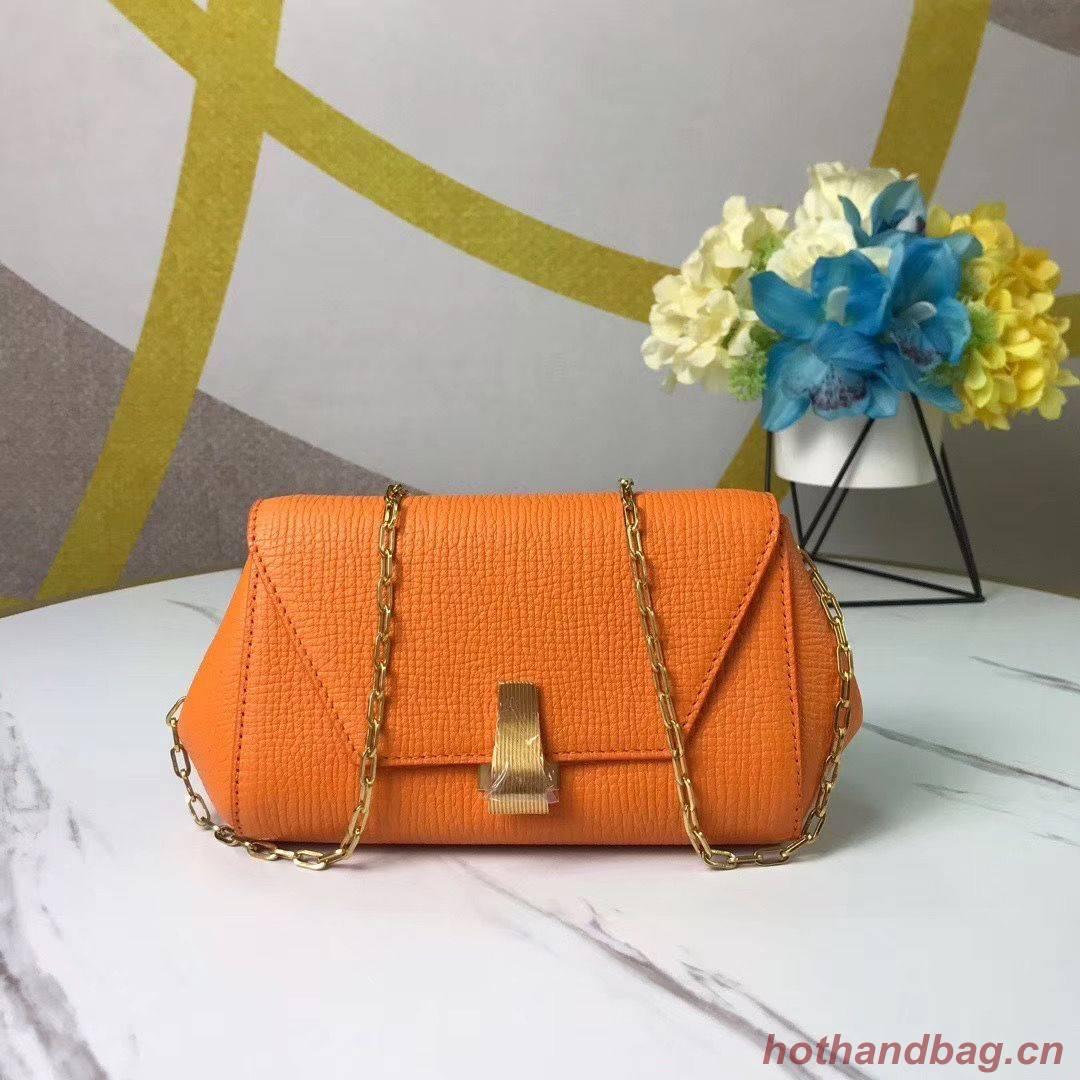 Bottega Veneta Original Leather Mini Chain Bag BV6700 Orange