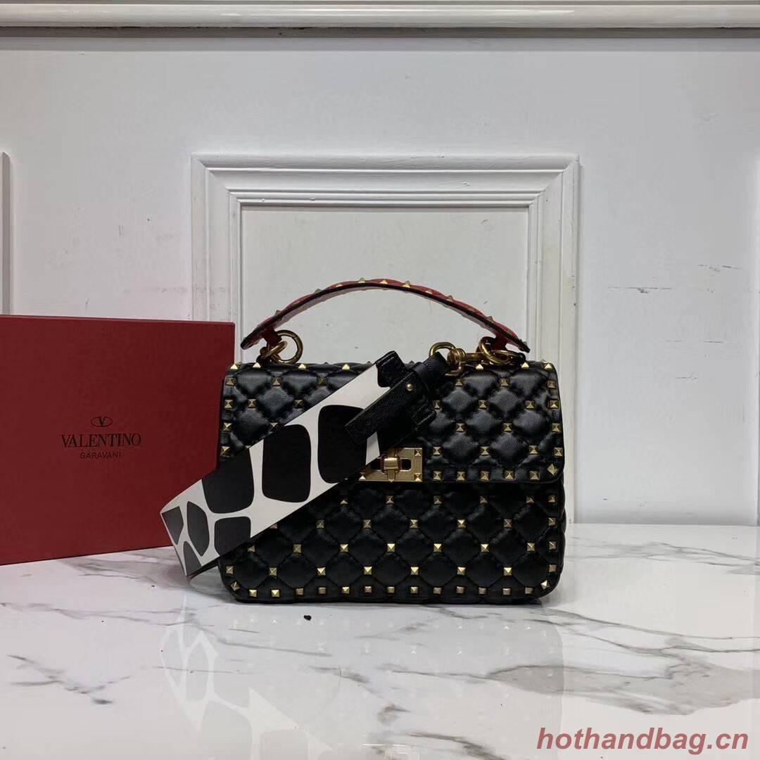 VALENTINO Origianl leather shoulder bag V0122H black