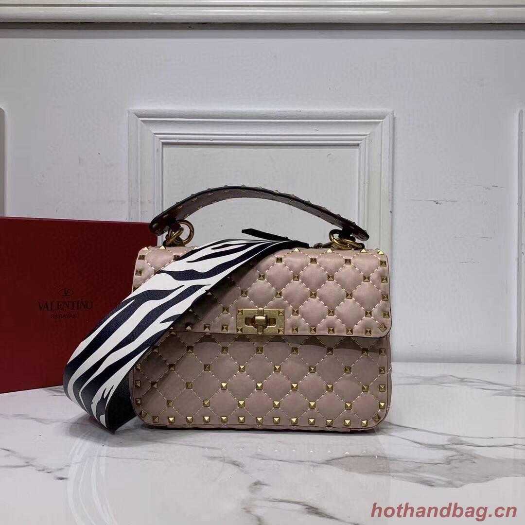 VALENTINO Origianl leather shoulder bag V0122H pink