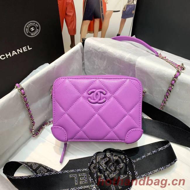 CHANEL 2020 New Style Original Leather Ball Grain Bag AP1132 Lavender