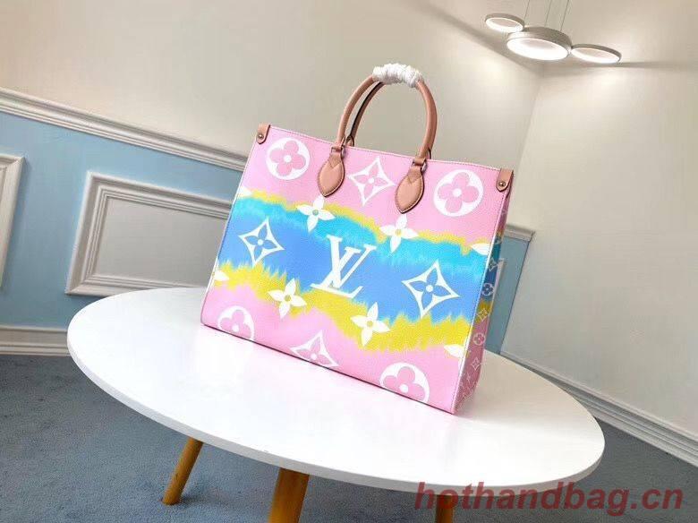 Louis Vuitton ONTHEGO Original Leather Escale Bag M45119 Pink&Blue