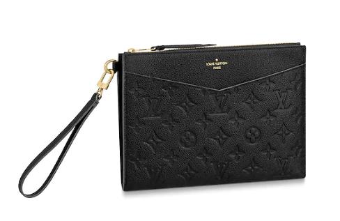 Louis Vuitton Original Monogram Empreinte  Clutch bag MELANIE M68705 black