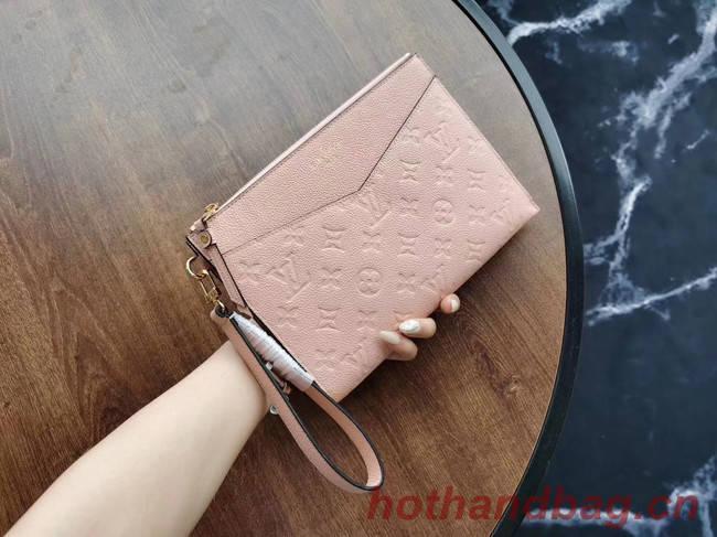 Louis Vuitton Original Monogram Empreinte Clutch bag MELANIE M68705 pink
