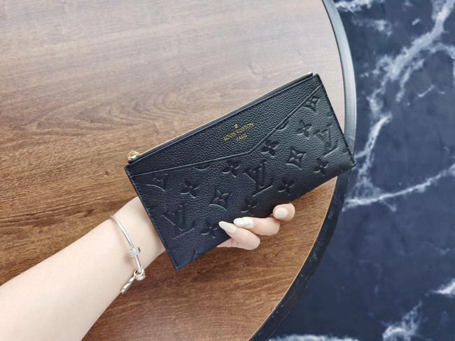 Louis Vuitton Original Monogram Empreinte Wallet M68712 black