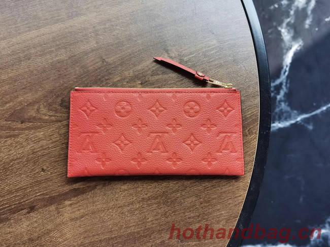 Louis Vuitton Original Monogram Empreinte Wallet M68712 red