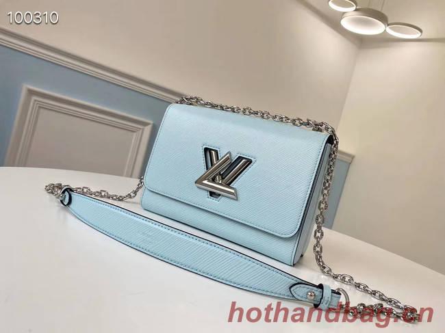 Louis vuitton original epi leather TWIST MM M66119 sky blue