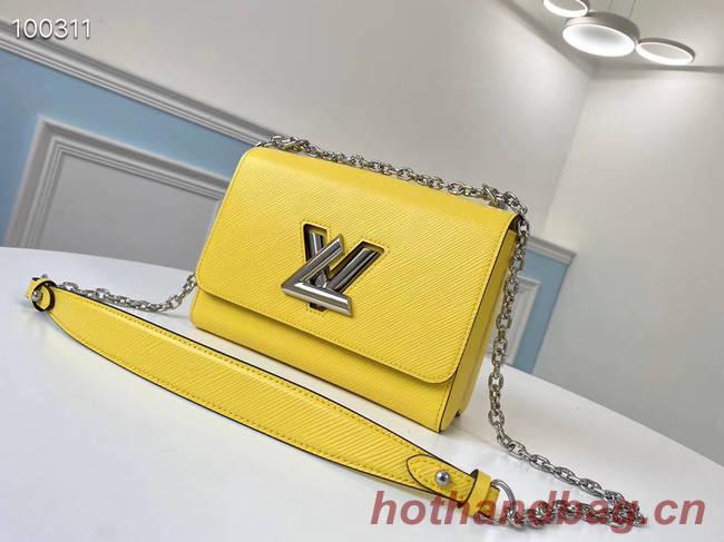 Louis vuitton original epi leather TWIST MM M66119 yellow