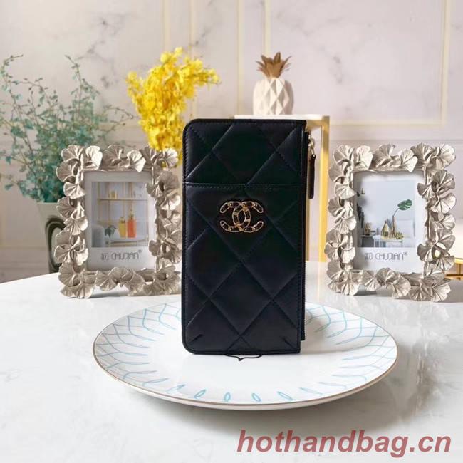 CHANEL 19 Mobile phone case Card Holder AP1182 black