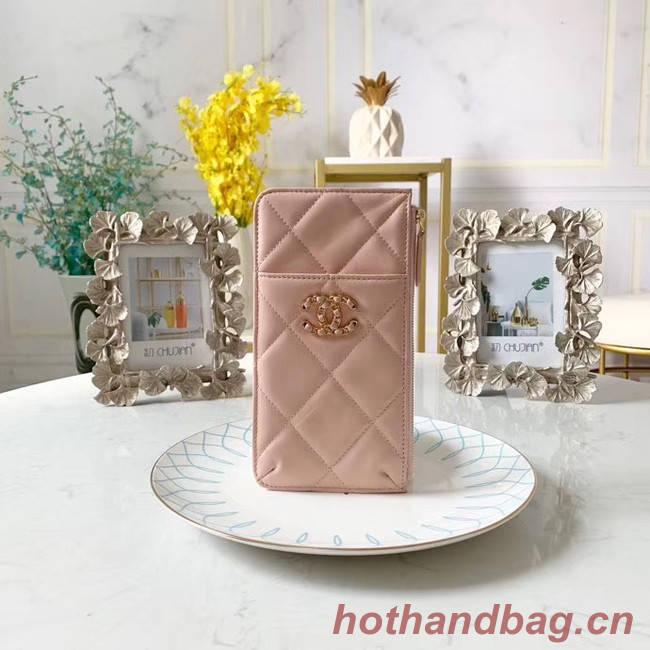 CHANEL 19 Mobile phone case Card Holder AP1182 pink